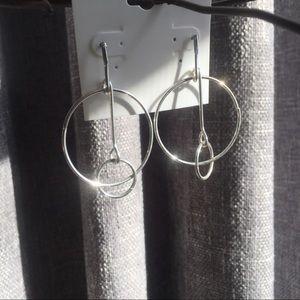 Jewelry - 🌞3/$19!! Unique Double Drop Hoop earrings!